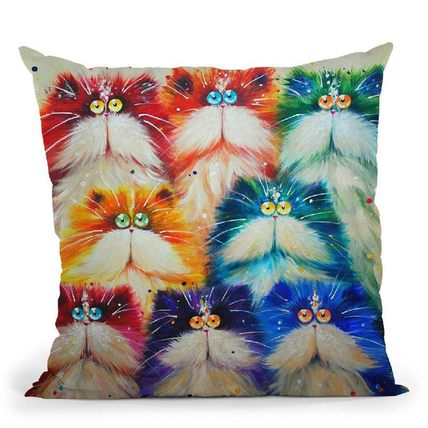 Furiety Throw Pillow By Kim Haskins