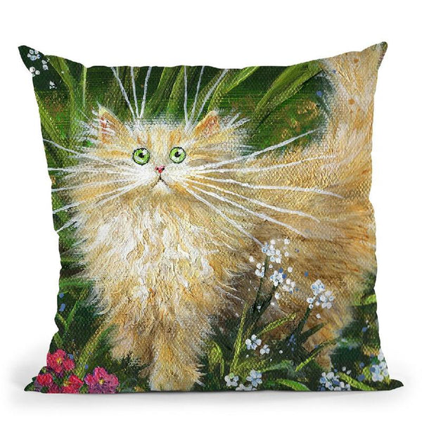 Garden Explorer Throw Pillow By Kim Haskins