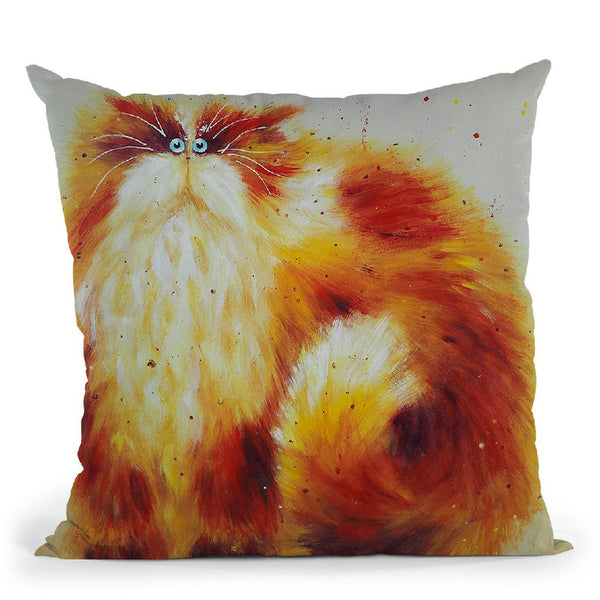 Ginger Tom Throw Pillow By Kim Huskins