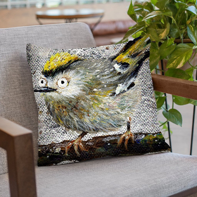 Goldcrest Throw Pillow By Kim Huskins