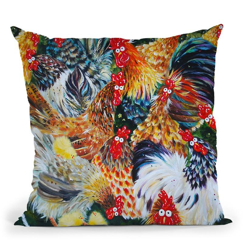 Hen Partys Throw Pillow By Kim Haskins