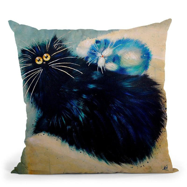 Kit Nap Throw Pillow By Kim Haskins