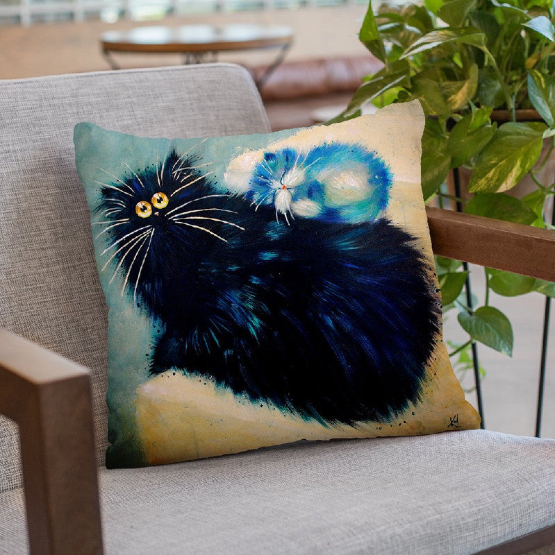 Kit Nap Throw Pillow By Kim Huskins