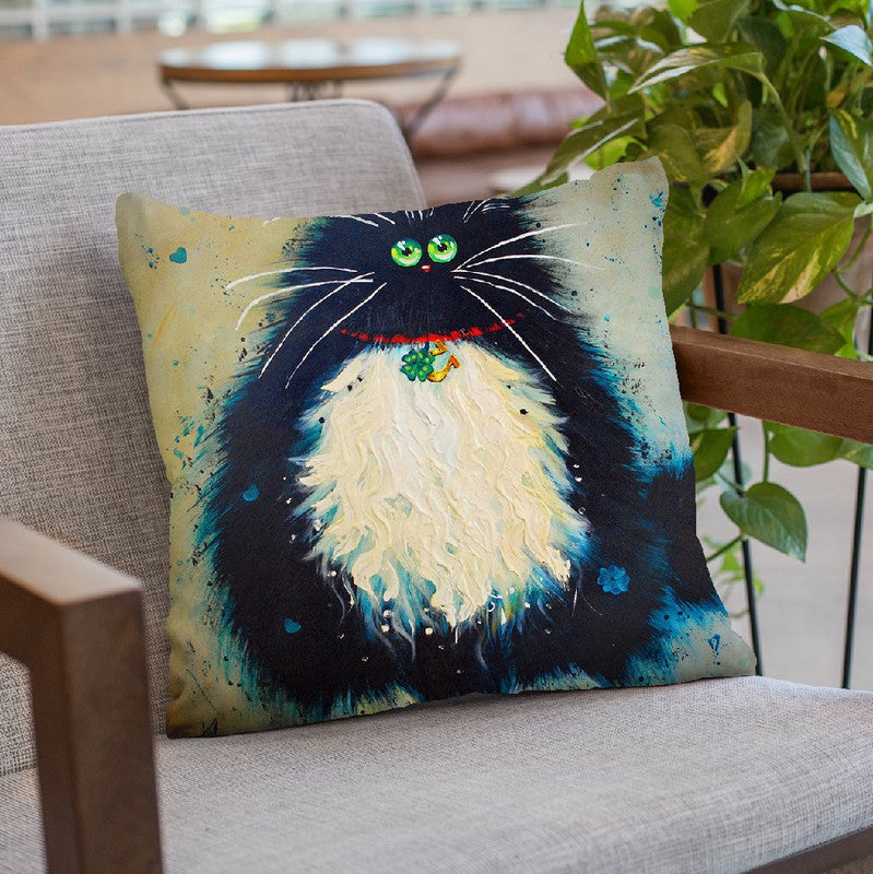 Lucky Jim Throw Pillow By Kim Huskins