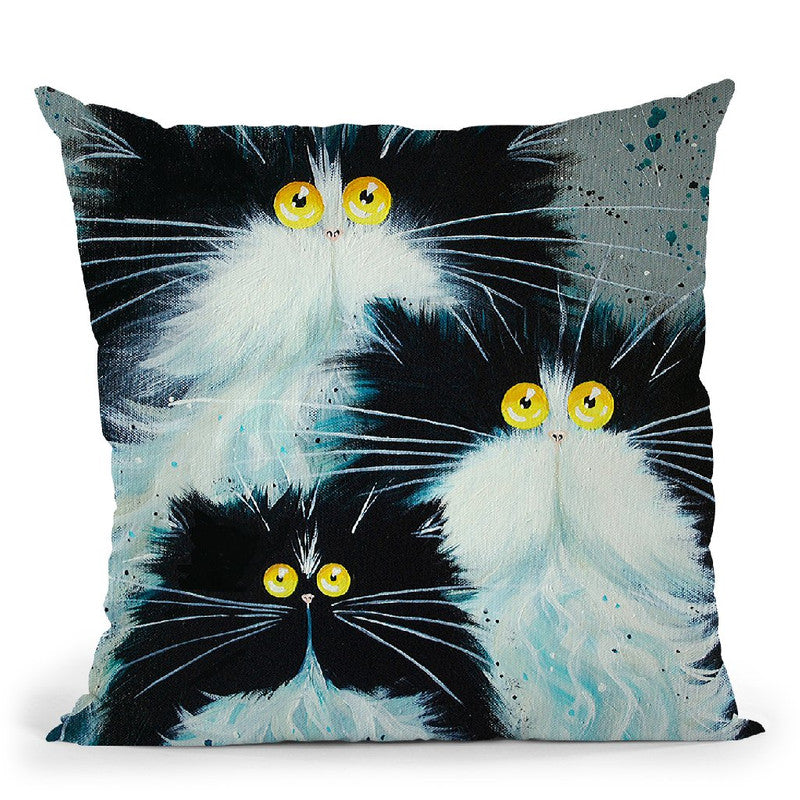 Meet The Purrents Throw Pillow By Kim Huskins