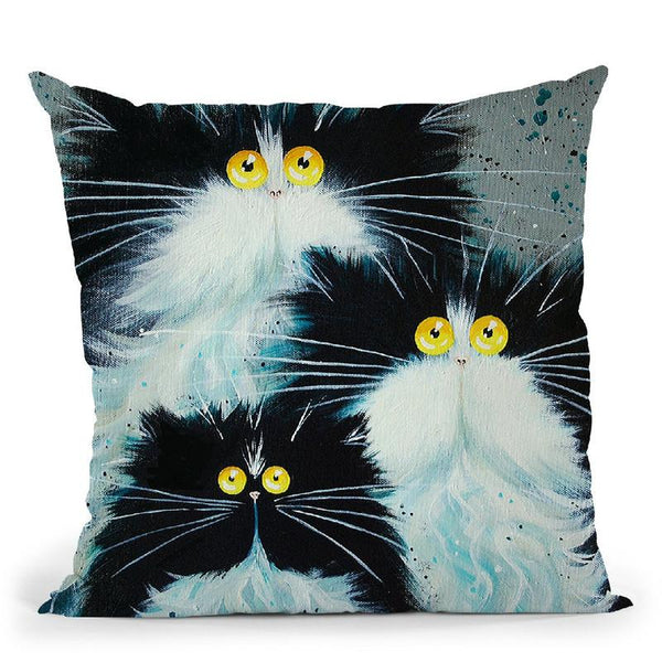 Meet The Purrents Throw Pillow By Kim Haskins