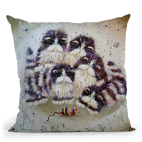 Mouse Throw Pillow By Kim Huskins