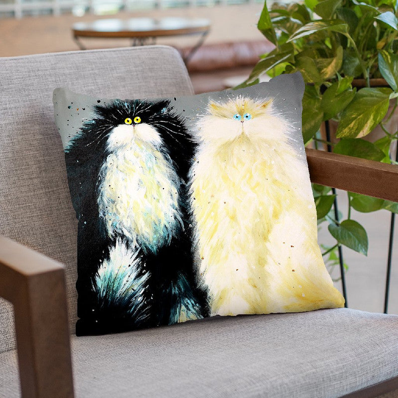 Mr And Mrs Throw Pillow By Kim Huskins