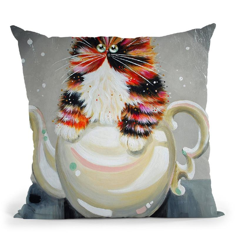 Oolong Throw Pillow By Kim Haskins