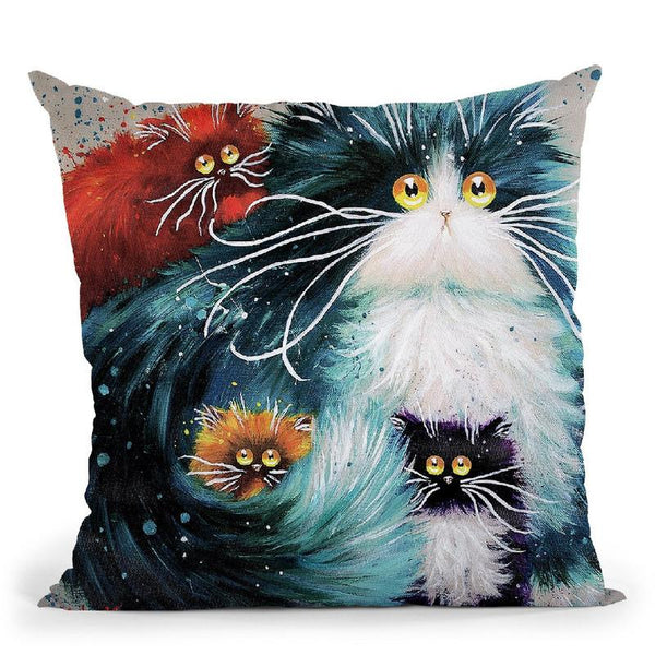 Purrenting Throw Pillow By Kim Haskins