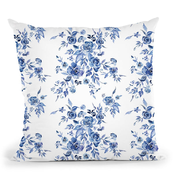 Delft Delight Pattern I Throw Pillow By Kristy Rice