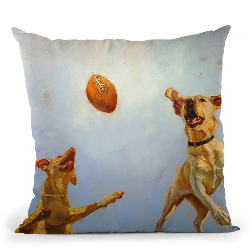 Game Point Throw Pillow By Lucia Heffernan