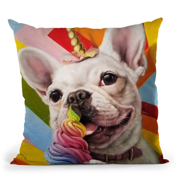 Rainbow Party Throw Pillow By Lucia Heffernan