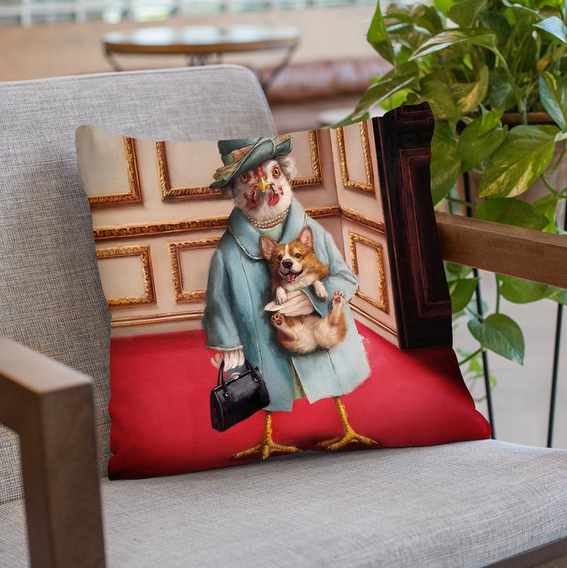 Her Majesty Throw Pillow By Lucia Heffernan