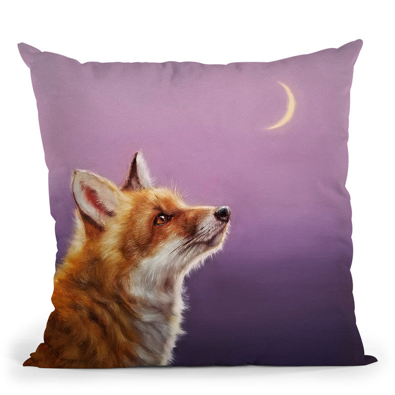 Talking To The Moon Throw Pillow By Lucia Heffernan