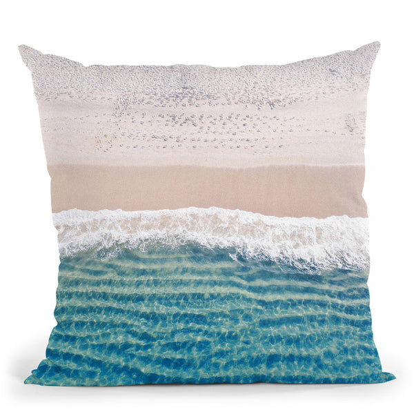 Beach Throw Pillow By Little Pitti