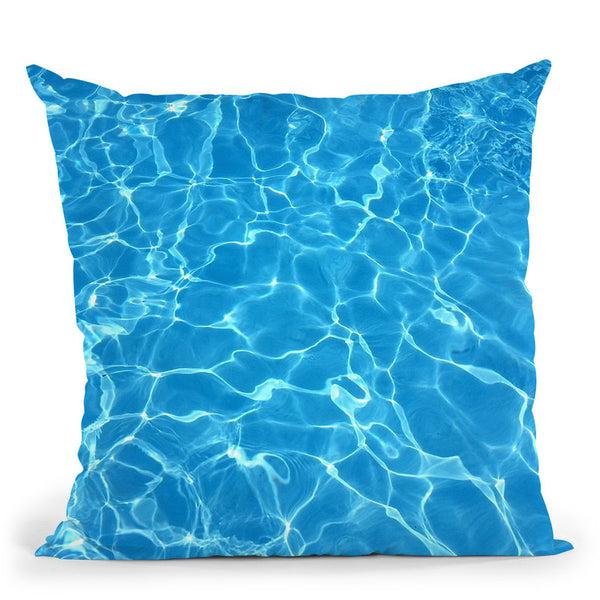 Blue Water Throw Pillow By Little Pitti