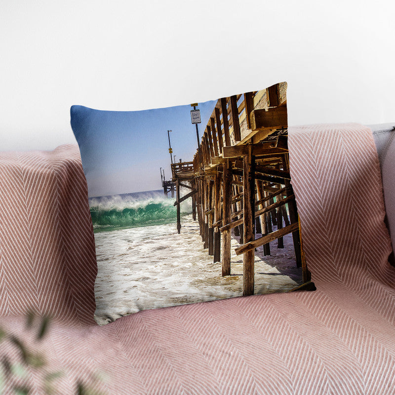 Pier Throw Pillow By Little Pitti