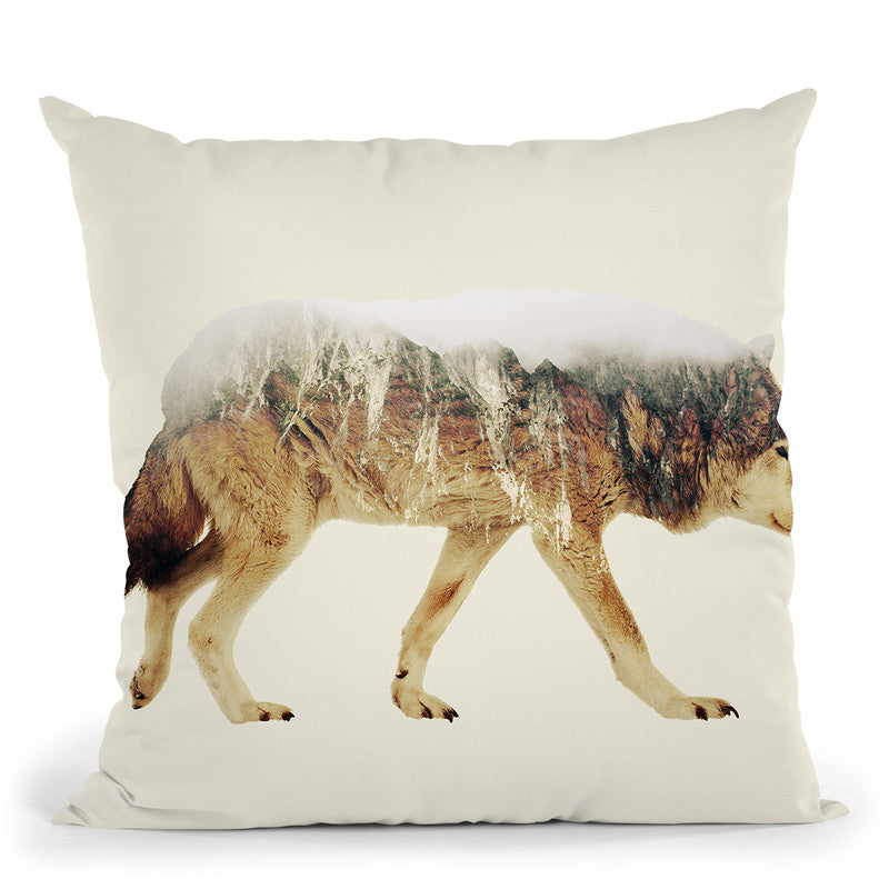 Wolf Lp Throw Pillow By Little Pitti