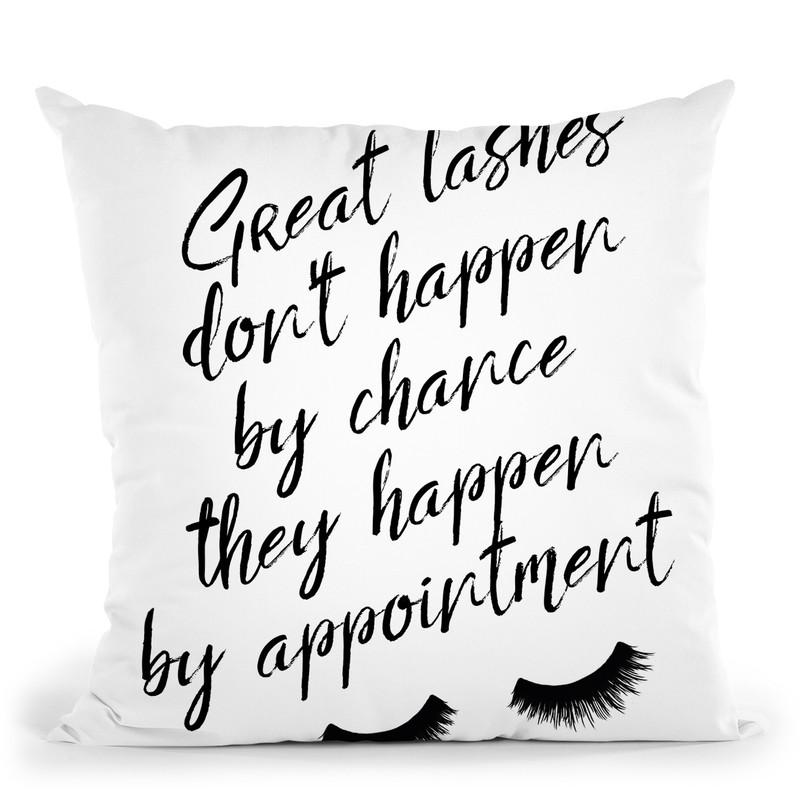 Lashes5 Throw Pillow By Little Pitti