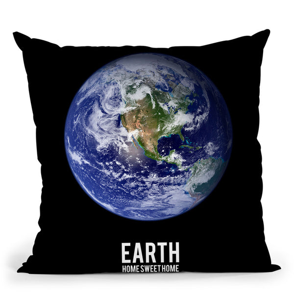 Earth Throw Pillow By Little Pitti