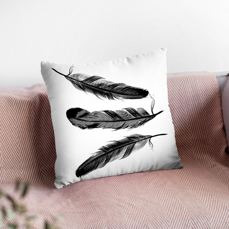 Feather2 Throw Pillow By Little Pitti