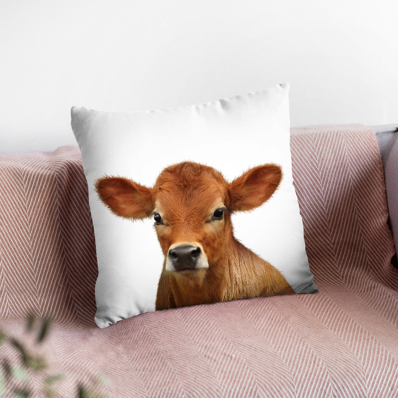 Calf Lp Throw Pillow By Little Pitti