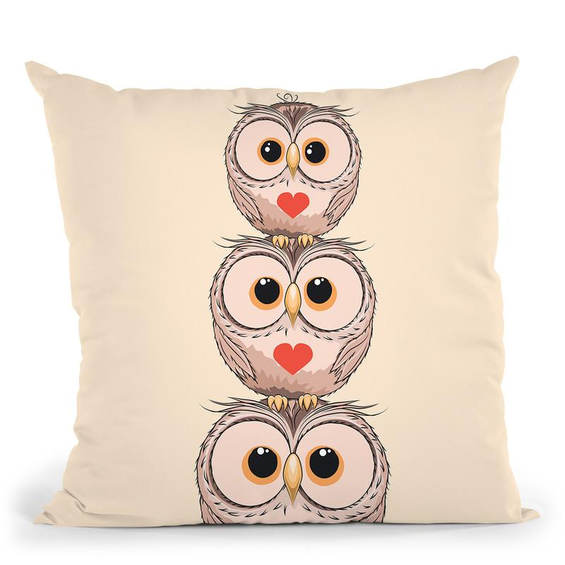 3Owls Throw Pillow By Little Pitti