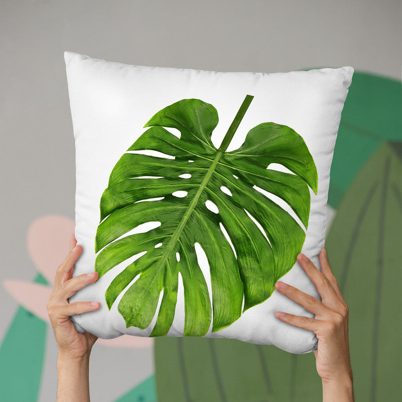 Monstera Throw Pillow By Little Pitti