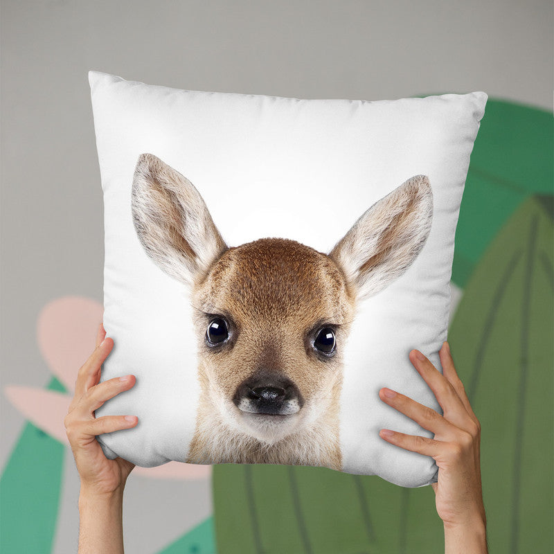 Baby Deer Throw Pillow By Little Pitti