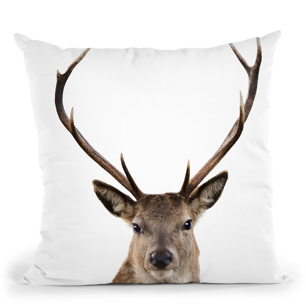 Deer L P Throw Pillow By Little Pitti