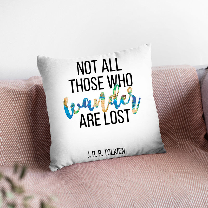Tolkien Throw Pillow By Little Pitti
