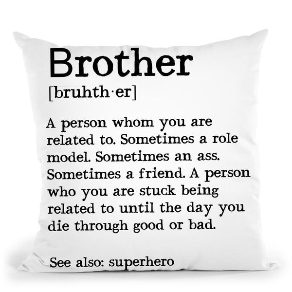 Brother1 Throw Pillow By Little Pitti