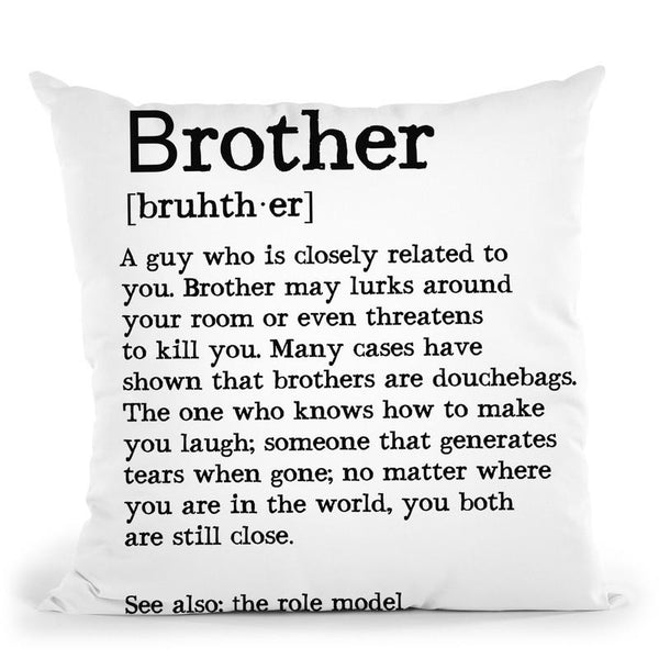 Brother2 Throw Pillow By Little Pitti