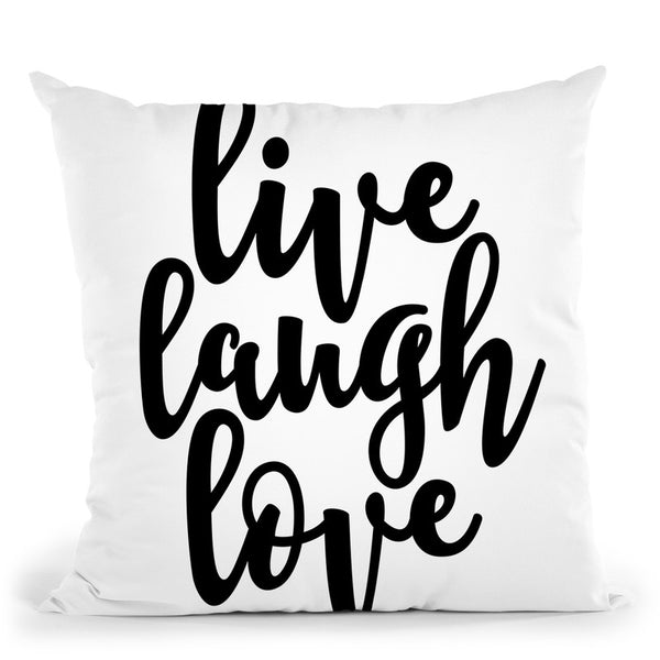 Live Laugh Love Throw Pillow By Little Pitti