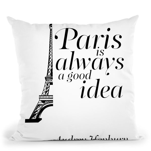 Paris Throw Pillow By Little Pitti