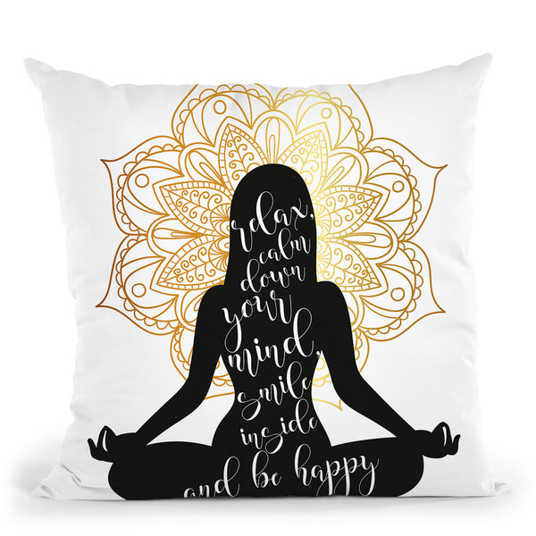 Yoga Throw Pillow By Little Pitti