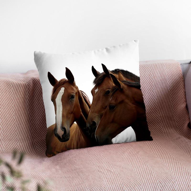 Horse1 Throw Pillow By Little Pitti
