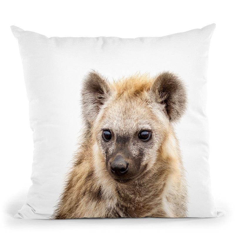 Hyena Throw Pillow By Little Pitti