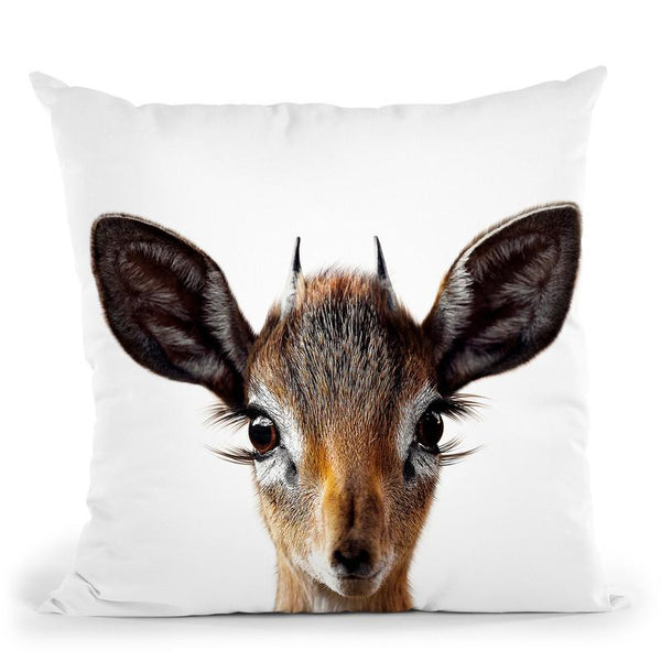 Baby Deer2 Throw Pillow By Little Pitti