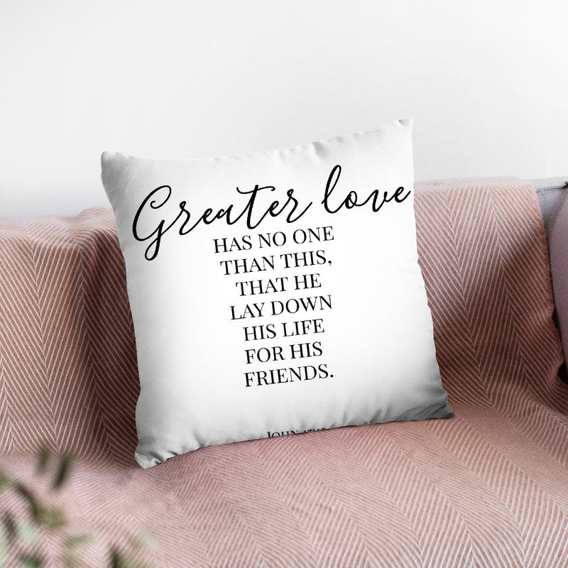 Greater Love Throw Pillow By Little Pitti