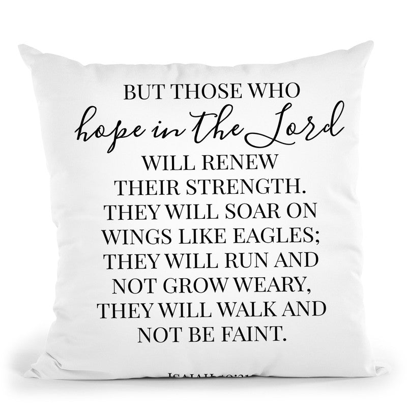 Hope In The Lord Throw Pillow By Little Pitti