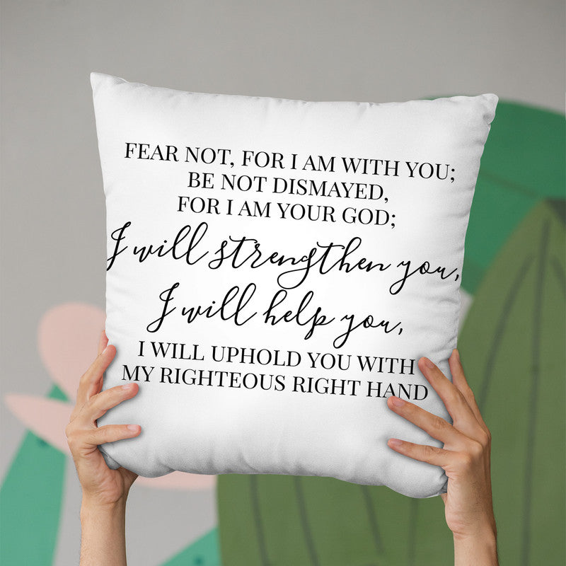 I Will Strengthen You Throw Pillow By Little Pitti