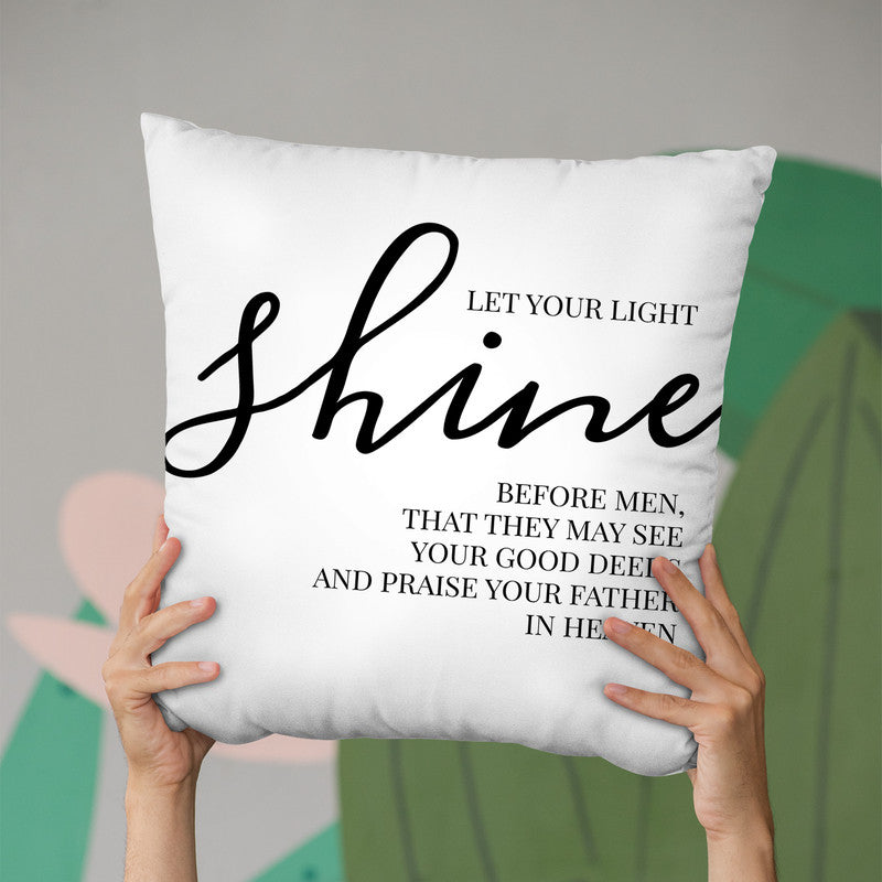 Let Your Lightine Throw Pillow By Little Pitti