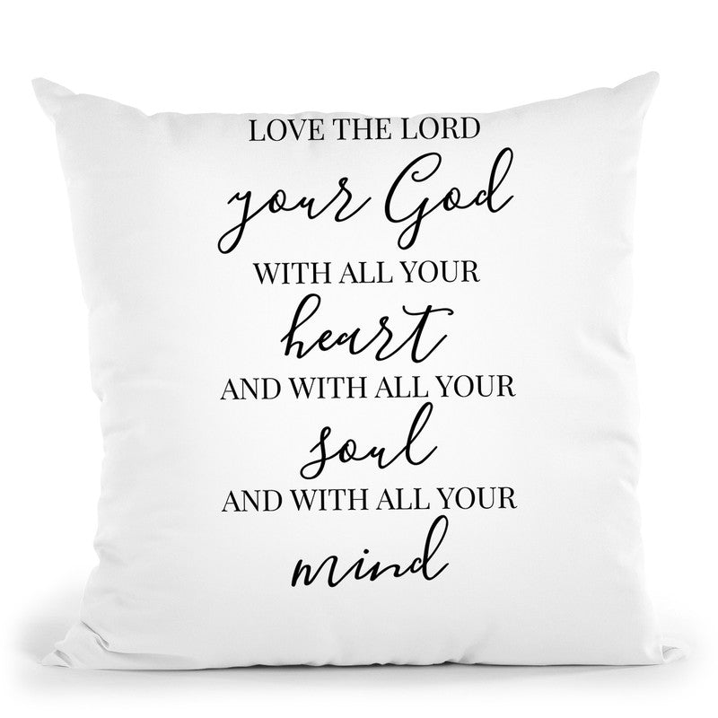 Love The Lord Throw Pillow By Little Pitti