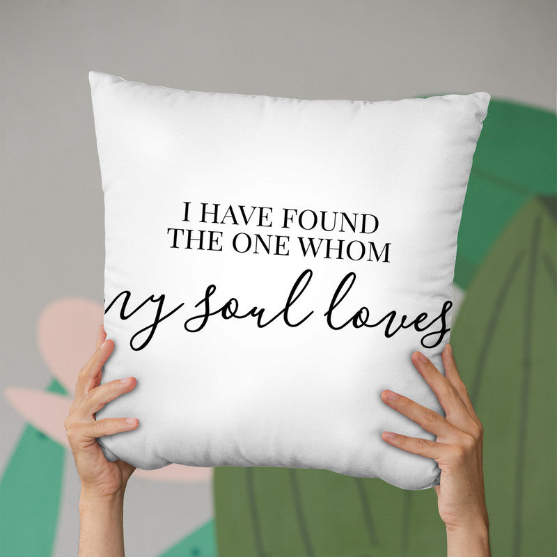 My Soul Loves Throw Pillow By Little Pitti
