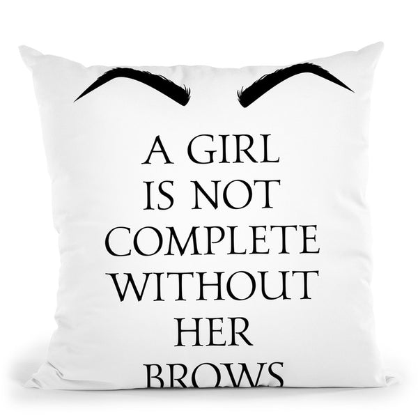 A Girl Is Not Complete Throw Pillow By Little Pitti
