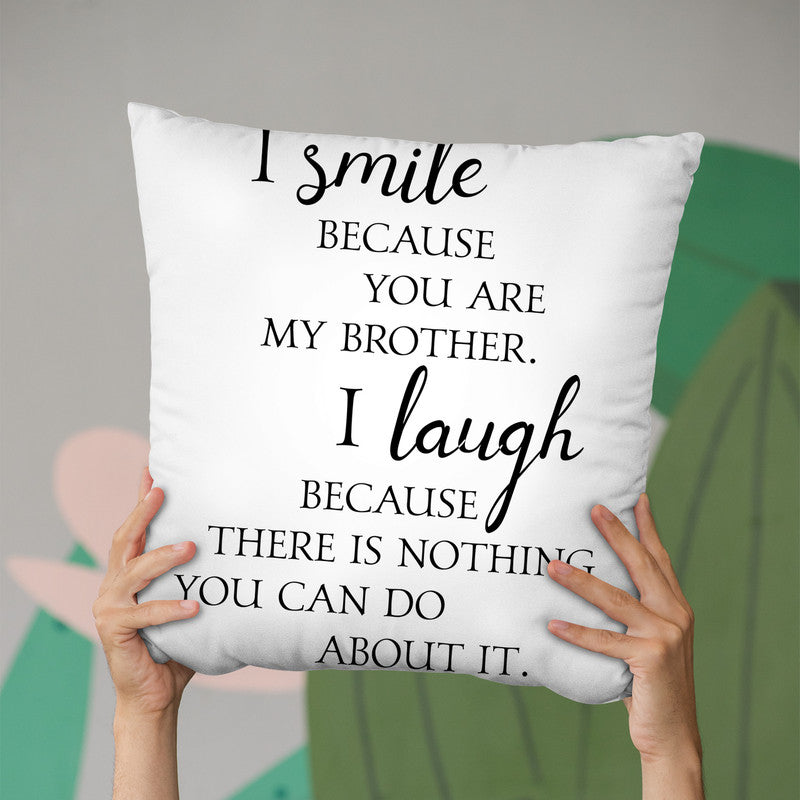 Brother Throw Pillow By Little Pitti