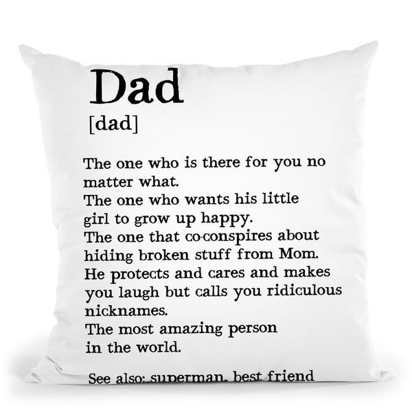 Dad Throw Pillow By Little Pitti