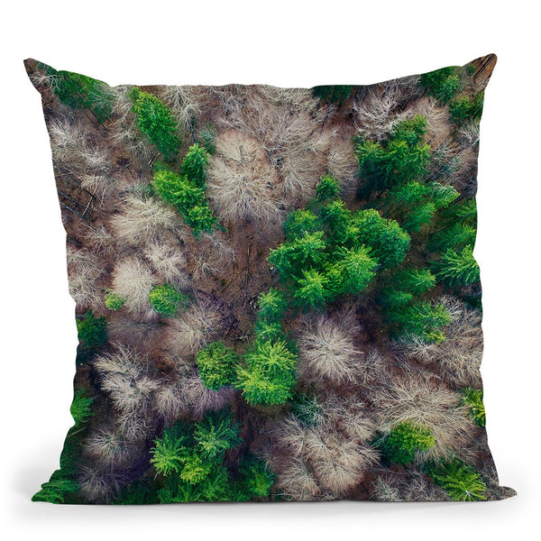 Forest Throw Pillow By Little Pitti